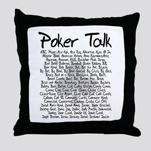 Poker Talk (Poker Terms) Throw Pillow