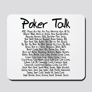 Poker Talk (Poker Terms) Mousepad