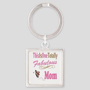 Fabulous Mom Square Keychain