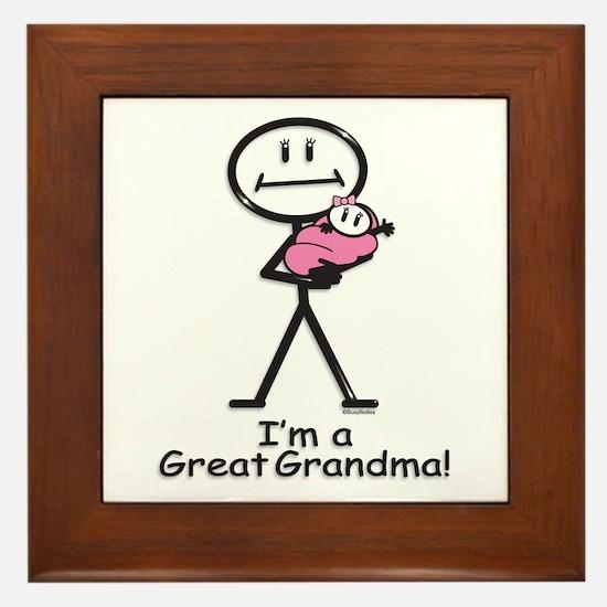 Great Grandma Baby Girl Framed Tile
