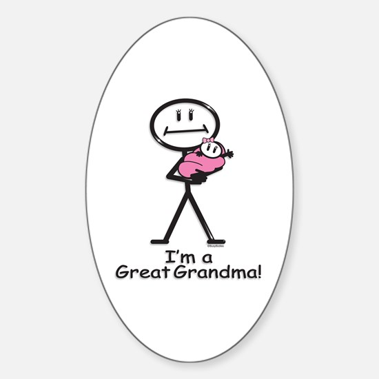 Great Grandma Baby Girl Oval Decal