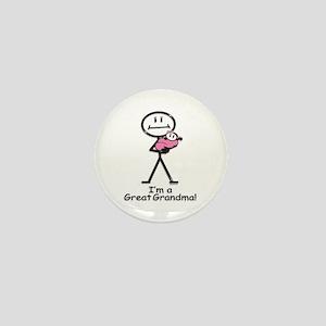 Great Grandma Baby Girl Mini Button