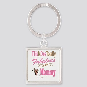 Fabulous Mommy Square Keychain