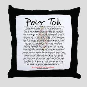 Poker Talk (Poker Terms) Throw Pillow