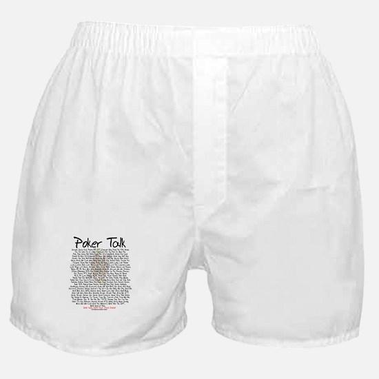 Poker Talk (Poker Terms) Boxer Shorts
