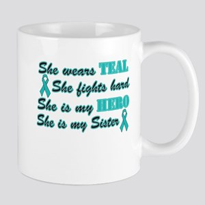 She is a Sister and Hero,Teal Mug
