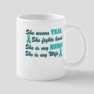 She is a Wife and Hero, Teal Mug