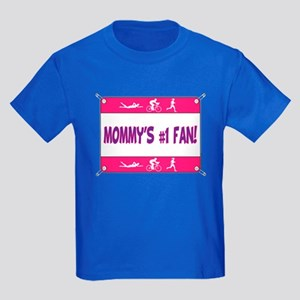 Mommy's #1 Fan Kids Dark T-Shirt