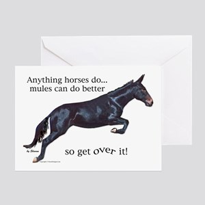 Mules are Better Greeting Card
