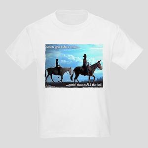Trail Riding Mules Kids Light T-Shirt