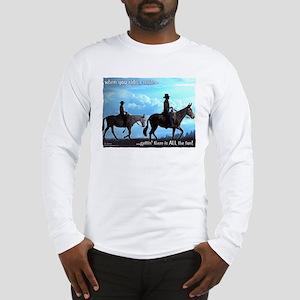 Trail Riding Mules Long Sleeve T-Shirt