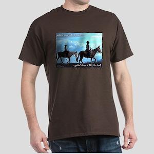 Trail Riding Mules Dark T-Shirt