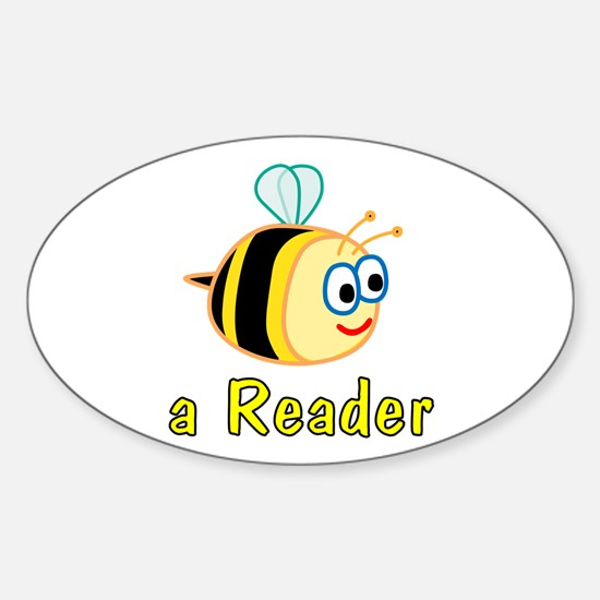 Book Reading Oval Decal