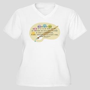 Nursing is an Art Women's Plus Size V-Neck T-Shirt
