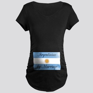 Argentinian by Marriage Maternity Dark T-Shirt