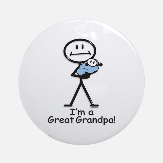 Great Grandpa Baby Boy Ornament (Round)