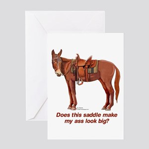 Ass Look Big Mule Greeting Card