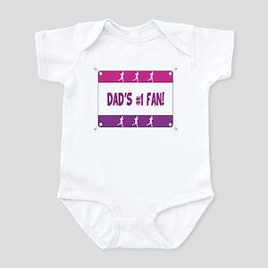 Dad's #1 Fan Running Infant Bodysuit