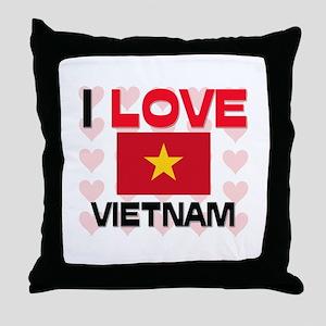 I Love Vietnam Throw Pillow