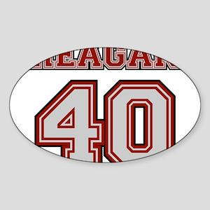 Reagan #40 Oval Sticker