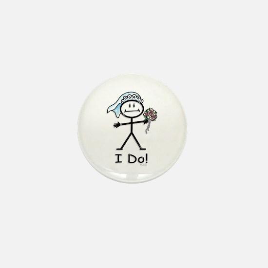 BusyBodies Wedding Bride Mini Button