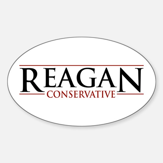 Reagan Conservative Oval Decal