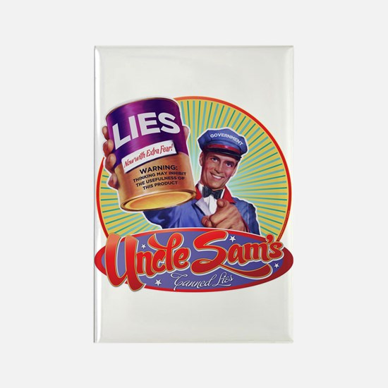 Uncle Sam's Canned Lies Rectangle Magnet