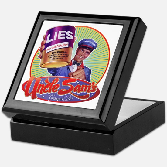 Uncle Sam's Canned Lies Keepsake Box
