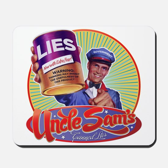 Uncle Sam's Canned Lies Mousepad