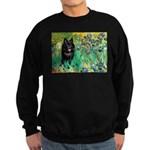 Irises / Schipperke #2 Sweatshirt (dark)
