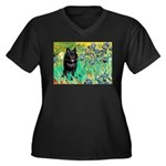 Irises / Schipperke #2 Women's Plus Size V-Neck Da