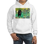 Irises / Schipperke #2 Hooded Sweatshirt