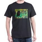 Irises / Schipperke #2 Dark T-Shirt