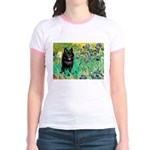 Irises / Schipperke #2 Jr. Ringer T-Shirt