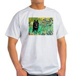 Irises / Schipperke #2 Light T-Shirt