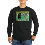 Irises / Schipperke #2 Long Sleeve Dark T-Shirt