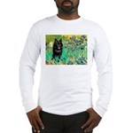 Irises / Schipperke #2 Long Sleeve T-Shirt
