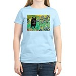 Irises / Schipperke #2 Women's Light T-Shirt