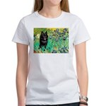 Irises / Schipperke #2 Women's T-Shirt