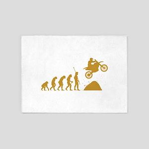 Motocross 5'x7'Area Rug