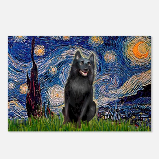 Starry / Schipperke #5 Postcards (Package of 8)