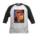 Mandolin / Schipperke #5 Kids Baseball Jersey