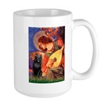 Mandolin / Schipperke #5 Large Mug