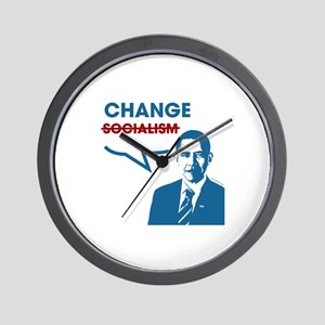 """Did I say """"Socialism""""? I meant """"Change"""" Wall Clock"""