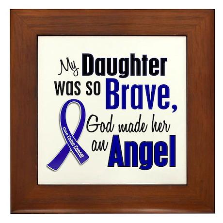 Angel 1 DAUGHTER Colon Cancer Framed Tile