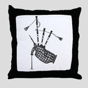 bagpipe Throw Pillow