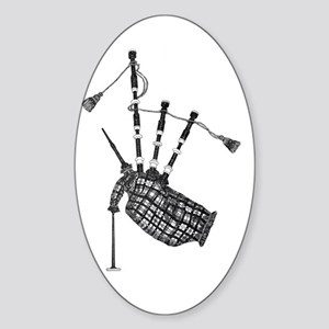 bagpipe Oval Sticker