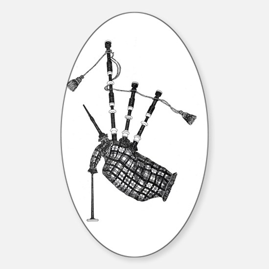 bagpipe Oval Decal
