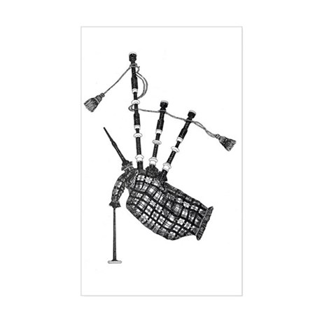 bagpipe Rectangle Sticker