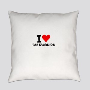 I Love Tae Kwon Do Everyday Pillow